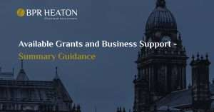 Available Grants and Business Support – Summary