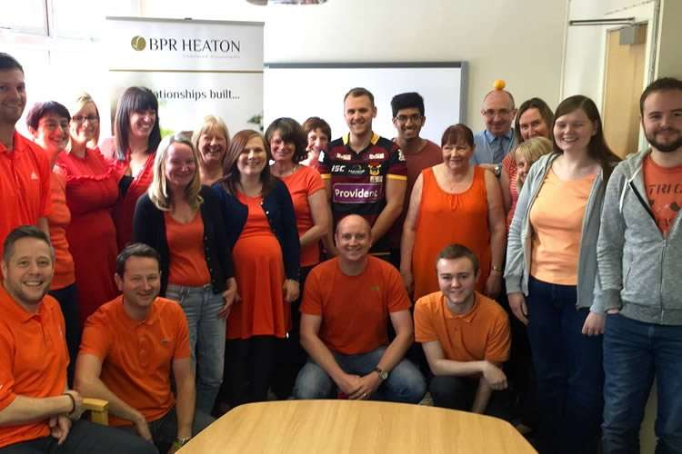 BPR Heaton staff joined in the fun on 'Wear Orange 4 Sepsis Day'