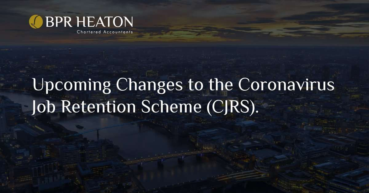 Read more about the article Upcoming Changes to the Coronavirus Job Retention Scheme (CJRS).