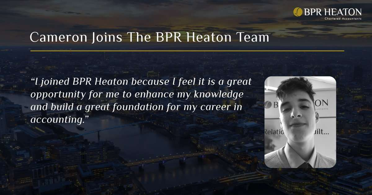 BPR Heaton Welcomes Cameron to The Team
