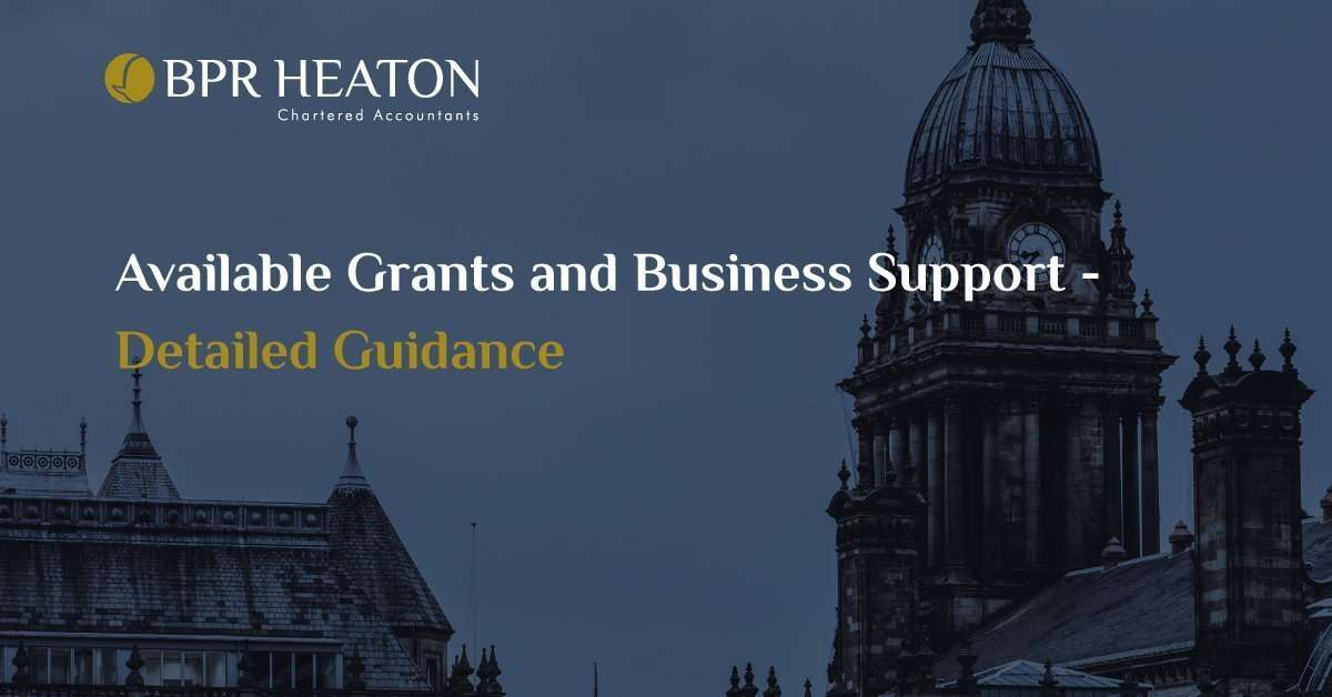 Available Grants and Business Support – Detailed Guidance